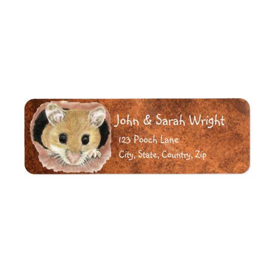 Watercolor Cute Mouse Animal Address Return Address Label