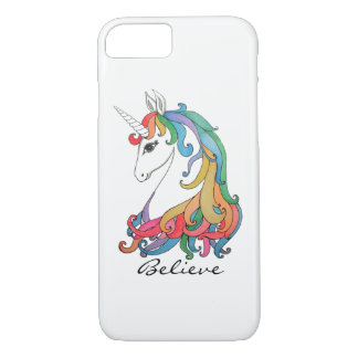 Watercolor cute rainbow unicorn iPhone 8/7 case