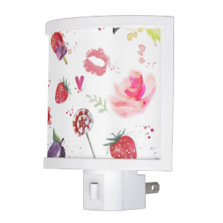 Watercolor Cute Summer Eements Night Light