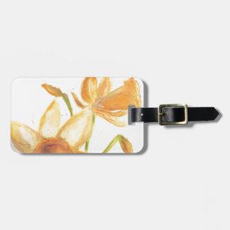 Watercolor Daffodil Bag Tag