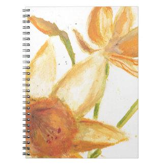 Watercolor Daffodil Notebooks