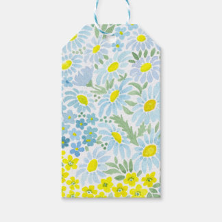 Watercolor daisies gift tags