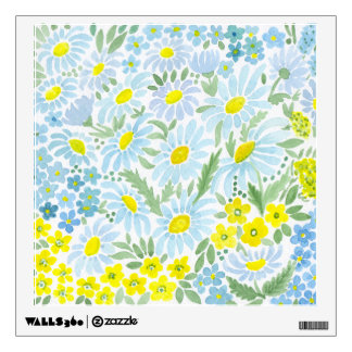 Watercolor daisies wall decal