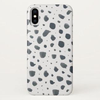 Watercolor Dalmatian Print iPhone X Case