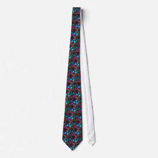 Watercolor dark rose pattern tie