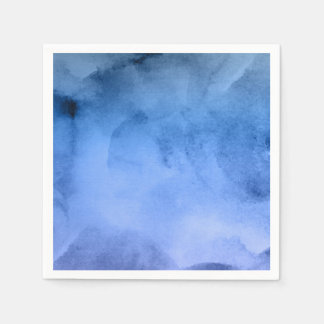 Watercolor Deep Blues - All Options Disposable Napkins