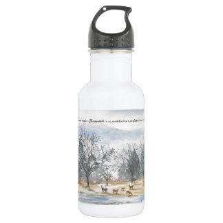 Watercolor Deer in the Woods Water Bottle