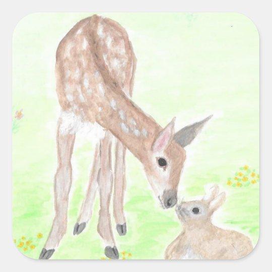 Watercolor Deer Sticker