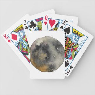 Watercolor design bicycle playing cards