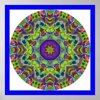 Watercolor Design Mandala Poster.3 Poster