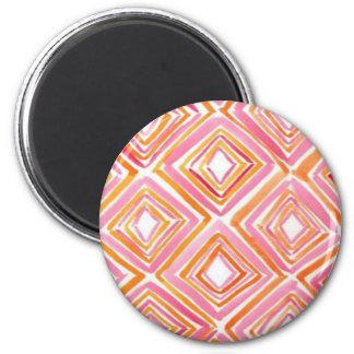Watercolor Diamonds 2 Inch Round Magnet