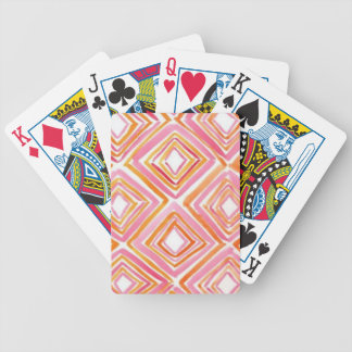 Watercolor Diamonds Bicycle Playing Cards