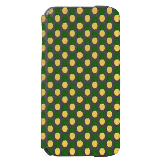 Watercolor Digital Pineapple Design Incipio Watson™ iPhone 6 Wallet Case