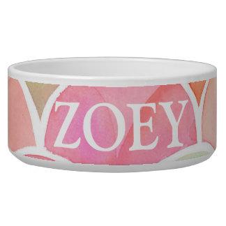 Watercolor Dog Bowl
