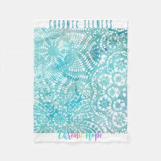 Watercolor Doilie Fleece Blanket