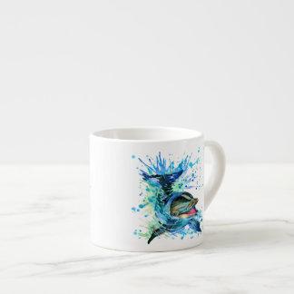 Watercolor Dolphin Espresso Cup