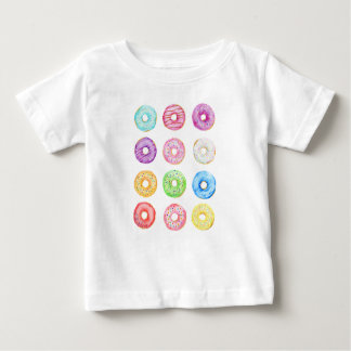 Watercolor donuts pattern baby T-Shirt