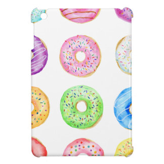 Watercolor donuts pattern cover for the iPad mini