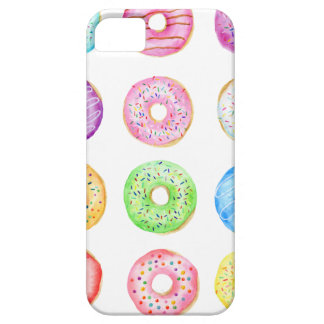 Watercolor donuts pattern iPhone 5 case
