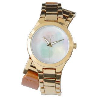Watercolor Dots Custom Watch