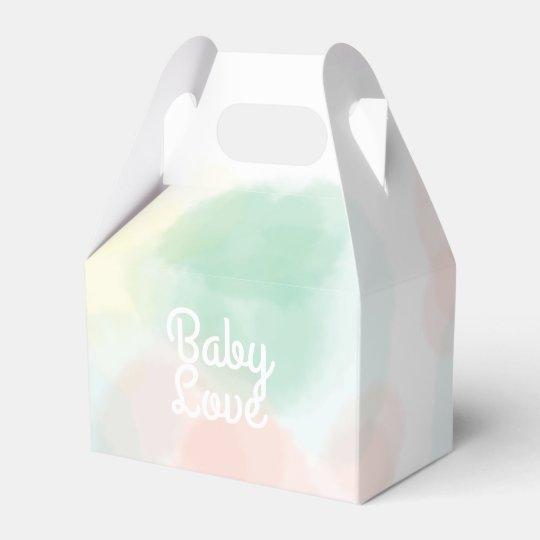 Watercolor Dots Favour Box - Customize Your Wedding Favor Boxes