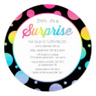 Watercolor Dots Surprise Birthday Party Invitation