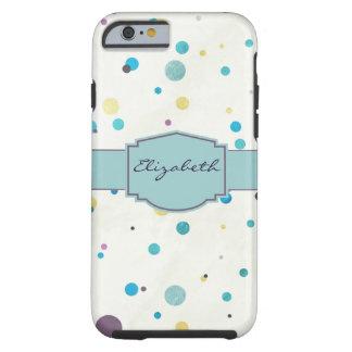 Watercolor Dots Tough iPhone 6 Case