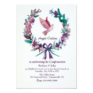 Watercolor Dove Religious Invitation