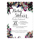 Watercolor Dragon Lilies Baby Shower Invitations
