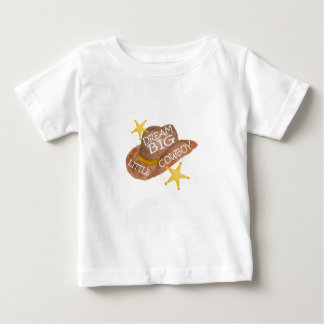 Watercolor Dream Big Little Cowboy Baby T-Shirt