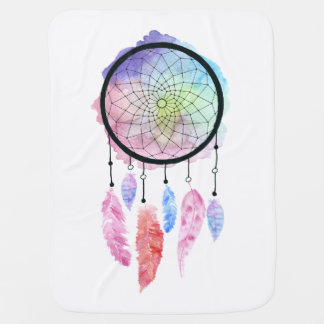 Watercolor Dreamcatcher Baby Blanket
