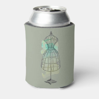 Watercolor Dress Form Can Cooler