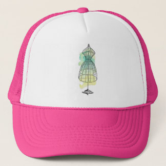 Watercolor Dress Form Trucker Hat