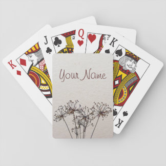 Watercolor Dried Flowers Playing Cards