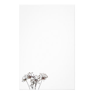 Watercolor Dried Flowers Stationery