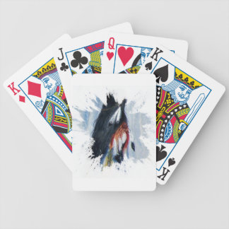 Watercolor Eagle Feathers Bicycle Playing Cards