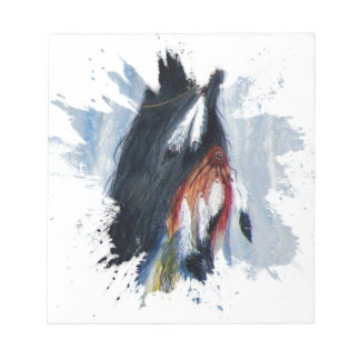 Watercolor Eagle Feathers Notepad