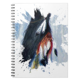 Watercolor Eagle Feathers Spiral Notebook