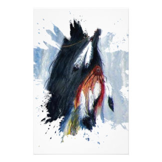 Watercolor Eagle Feathers Stationery