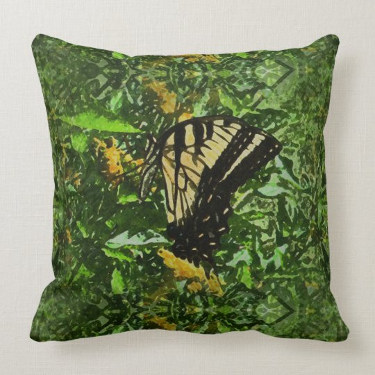 Watercolor Eastern Swallowtail Butterfly Pillow