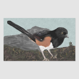 Watercolor Eastern Towhee Stickers