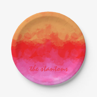 Watercolor Effects Fruit Salad ID134 7 Inch Paper Plate