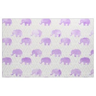 Watercolor Elephant Shibori Primitive Chevron Fabric