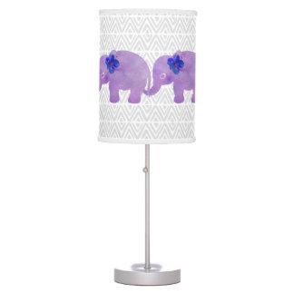 Watercolor Elephant Shibori Primitive Chevron Table Lamp