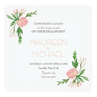 watercolor engagement announcement