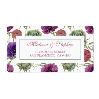 Watercolor | Eucalyptus & Anemone -  Wedding