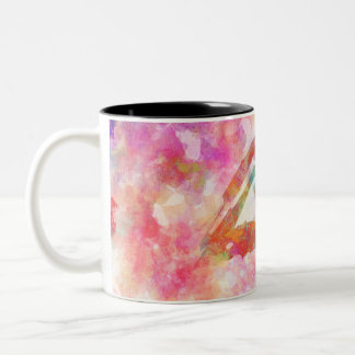 Watercolor eye Two-Tone coffee mug