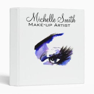Watercolor eyes lash extension makeup branding vinyl binders