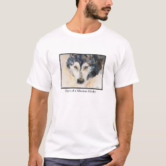 Watercolor Eyes of a Siberian Husky T-shirt