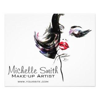 Watercolor face makeup artist branding